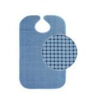 Нагрудник непромокаемый с кнопками (синий)