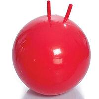Мяч для занятий ЛФК с рожками, с насосом, 55см, красный арт.М-355