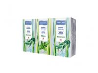 Платки носовые Акваэль трехслойные арома(мята, эвкалипт)10 шт