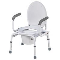 Кресло-туалет с опускающимися подлокотниками TN-408
