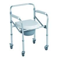 Кресло-туалет CA615 на четырех колесах складное