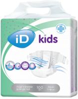 Подгузники для детей iD kids 7-18кг 100шт/уп