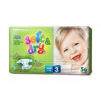 Детские подгузники Helen Harper soft & dry midi 4-9 кг 56 шт