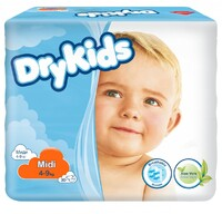 Детские подгузники Dry Kids 4-9 кг 30шт
