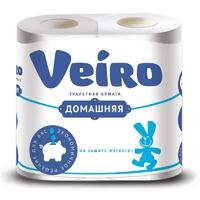 Туалетная бумага VEIRO домашняя 4 рулона
