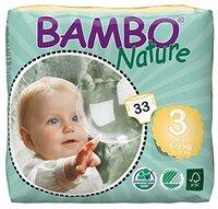 Детские подгузники BAMBO nature 3 midi 5-9 кг 33 шт
