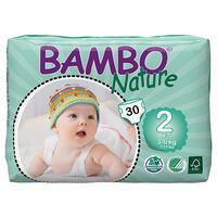 Детские подгузники BAMBO nature 2 mini 3-6 кг 30 шт