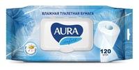Влажная туалетная бумага AURA 120шт/уп
